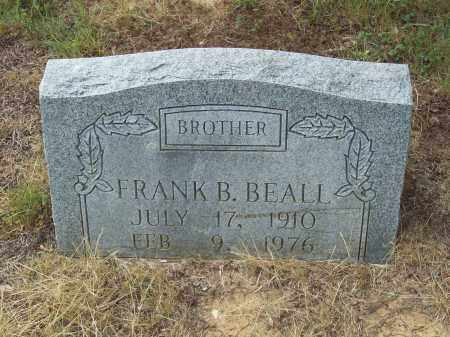 BEALL, FRANK B. - Pulaski County, Arkansas | FRANK B. BEALL - Arkansas Gravestone Photos