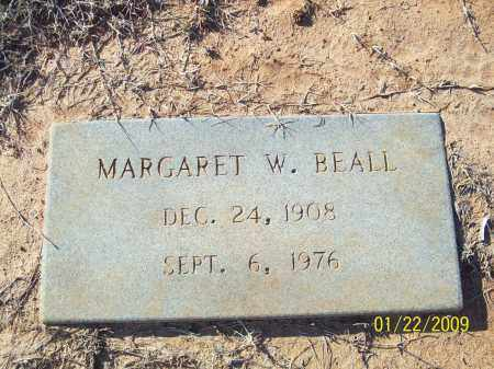 BEALL, MARGERET W. - Pulaski County, Arkansas | MARGERET W. BEALL - Arkansas Gravestone Photos