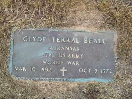 BEALL (VETERAN WWI), CLYDE TERRAL - Pulaski County, Arkansas   CLYDE TERRAL BEALL (VETERAN WWI) - Arkansas Gravestone Photos