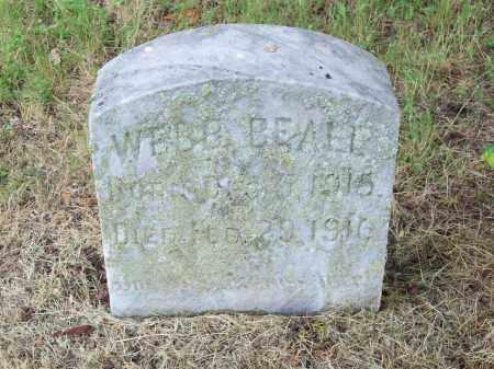 BEALL, WEBB - Pulaski County, Arkansas | WEBB BEALL - Arkansas Gravestone Photos