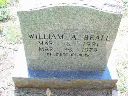BEALL, WILLIAM A - Pulaski County, Arkansas | WILLIAM A BEALL - Arkansas Gravestone Photos