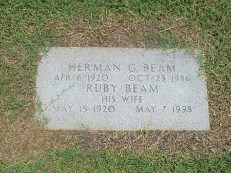 BEAM (VETERAN WWII), HERMAN G - Pulaski County, Arkansas | HERMAN G BEAM (VETERAN WWII) - Arkansas Gravestone Photos