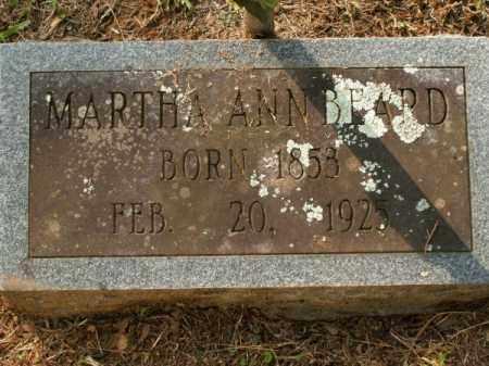 BEARD, MARTHA ANN - Pulaski County, Arkansas | MARTHA ANN BEARD - Arkansas Gravestone Photos