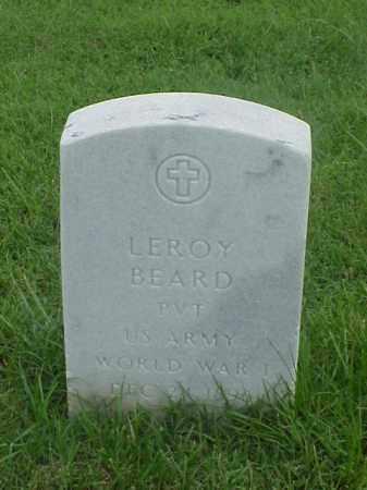 BEARD (VETERAN WWI), LEROY - Pulaski County, Arkansas   LEROY BEARD (VETERAN WWI) - Arkansas Gravestone Photos