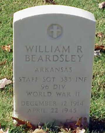 BEARDSLEY (VETERAN WWII), WILLIAM R - Pulaski County, Arkansas | WILLIAM R BEARDSLEY (VETERAN WWII) - Arkansas Gravestone Photos