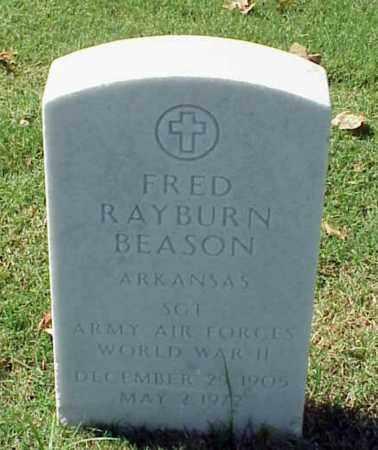 BEASON (VETERAN WWII), FRED RAYBURN - Pulaski County, Arkansas   FRED RAYBURN BEASON (VETERAN WWII) - Arkansas Gravestone Photos