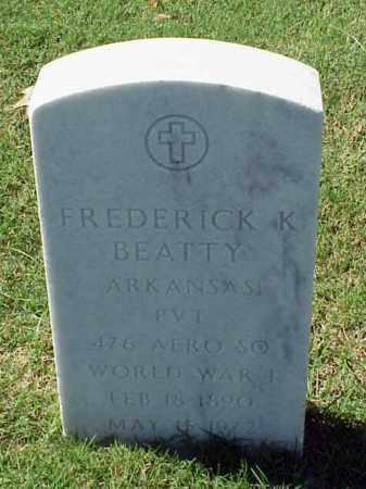 BEATTY (VETERAN WWI), FREDERICK K - Pulaski County, Arkansas | FREDERICK K BEATTY (VETERAN WWI) - Arkansas Gravestone Photos