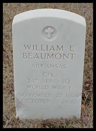 BEAUMONT (VETERAN WWI), WILLIAM E - Pulaski County, Arkansas   WILLIAM E BEAUMONT (VETERAN WWI) - Arkansas Gravestone Photos