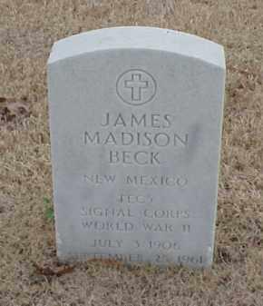 BECK  (VETERAN WWII), JAMES MADISON - Pulaski County, Arkansas | JAMES MADISON BECK  (VETERAN WWII) - Arkansas Gravestone Photos