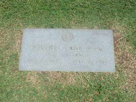 BECK (VETERAN), BEVERLY ZANE - Pulaski County, Arkansas | BEVERLY ZANE BECK (VETERAN) - Arkansas Gravestone Photos