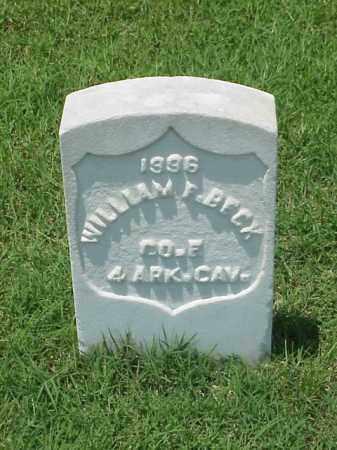 BECK (VETERAN UNION), WILLIAM F - Pulaski County, Arkansas   WILLIAM F BECK (VETERAN UNION) - Arkansas Gravestone Photos