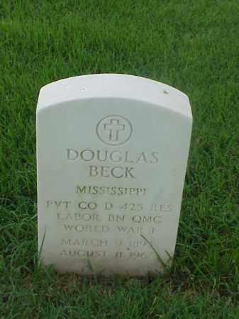 BECK (VETERAN WWI), DOUGLAS - Pulaski County, Arkansas   DOUGLAS BECK (VETERAN WWI) - Arkansas Gravestone Photos