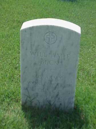 BECK (VETERAN WWII), WILLIAM F - Pulaski County, Arkansas   WILLIAM F BECK (VETERAN WWII) - Arkansas Gravestone Photos
