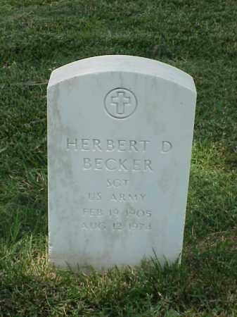 BECKER (VETERAN WWII), HERBERT D - Pulaski County, Arkansas | HERBERT D BECKER (VETERAN WWII) - Arkansas Gravestone Photos