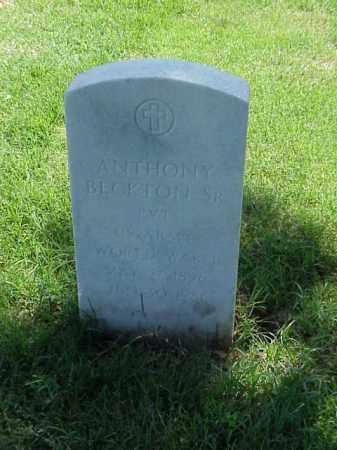 BECKTON, SR (VETERAN WWI), ANTHONY - Pulaski County, Arkansas | ANTHONY BECKTON, SR (VETERAN WWI) - Arkansas Gravestone Photos