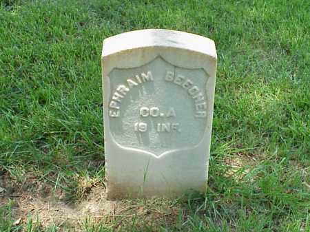 BEECHER (VETERAN UNION), EPHRAIM - Pulaski County, Arkansas   EPHRAIM BEECHER (VETERAN UNION) - Arkansas Gravestone Photos