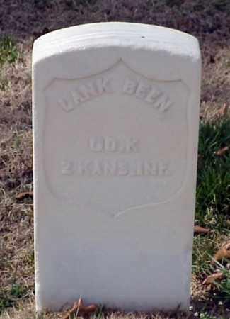 BEEN (VETERAN UNION), LANK - Pulaski County, Arkansas   LANK BEEN (VETERAN UNION) - Arkansas Gravestone Photos