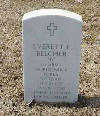 BELCHER  (VETERAN 3 WARS), EVERETT F - Pulaski County, Arkansas | EVERETT F BELCHER  (VETERAN 3 WARS) - Arkansas Gravestone Photos