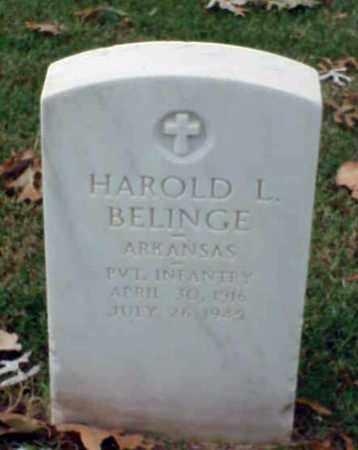 BELINGE (VETERAN WWII), HAROLD L - Pulaski County, Arkansas | HAROLD L BELINGE (VETERAN WWII) - Arkansas Gravestone Photos