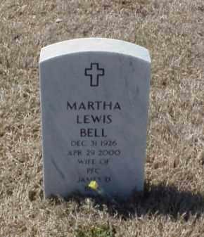 LEWIS BELL, MARTHA - Pulaski County, Arkansas | MARTHA LEWIS BELL - Arkansas Gravestone Photos