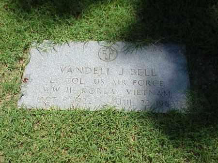 BELL (VETERAN 3 WARS), VANDELL J - Pulaski County, Arkansas | VANDELL J BELL (VETERAN 3 WARS) - Arkansas Gravestone Photos