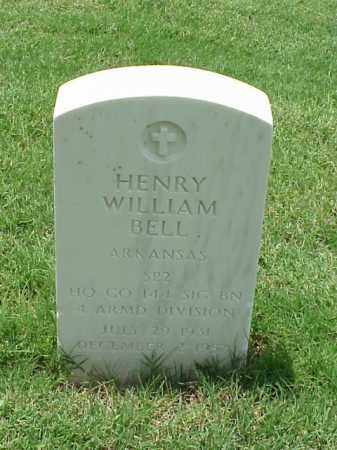 BELL (VETERAN), HENRY WILLIAM - Pulaski County, Arkansas | HENRY WILLIAM BELL (VETERAN) - Arkansas Gravestone Photos