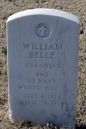 BELLE (VETERAN WWII), WILLIAM - Pulaski County, Arkansas   WILLIAM BELLE (VETERAN WWII) - Arkansas Gravestone Photos