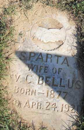 BELLUS, SPARTA - Pulaski County, Arkansas | SPARTA BELLUS - Arkansas Gravestone Photos