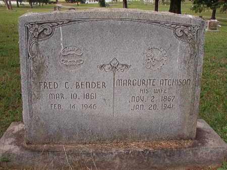 BENDER, FRED C - Pulaski County, Arkansas | FRED C BENDER - Arkansas Gravestone Photos