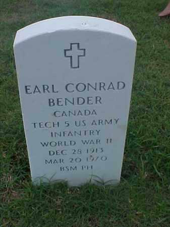 BENDER (VETERAN WWII), EARL CONRAD - Pulaski County, Arkansas | EARL CONRAD BENDER (VETERAN WWII) - Arkansas Gravestone Photos