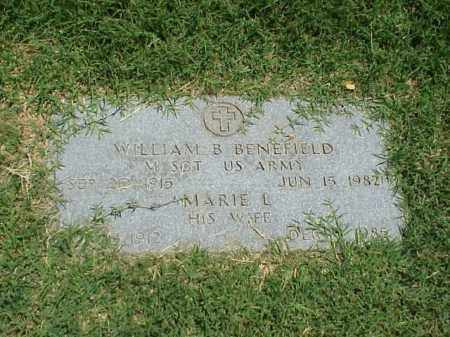 BENEFIELD (VETERAN), WILLIAM B - Pulaski County, Arkansas | WILLIAM B BENEFIELD (VETERAN) - Arkansas Gravestone Photos