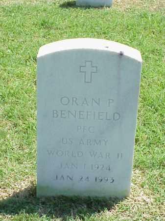 BENEFIELD (VETERAN WWII), ORAN P - Pulaski County, Arkansas   ORAN P BENEFIELD (VETERAN WWII) - Arkansas Gravestone Photos