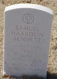 BENNETT  (VETERAN WWI), SAMUEL HARRISON - Pulaski County, Arkansas | SAMUEL HARRISON BENNETT  (VETERAN WWI) - Arkansas Gravestone Photos