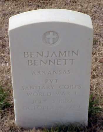 BENNETT (VETERAN WWI), BENJAMIN - Pulaski County, Arkansas   BENJAMIN BENNETT (VETERAN WWI) - Arkansas Gravestone Photos