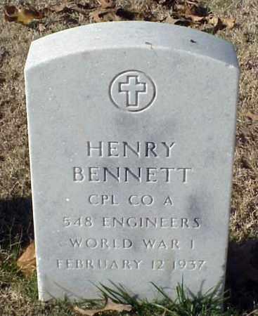 BENNETT (VETERAN WWI), HENRY - Pulaski County, Arkansas   HENRY BENNETT (VETERAN WWI) - Arkansas Gravestone Photos