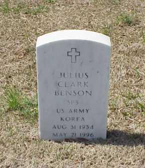 BENSON (VETERAN KOR), JULIUS CLARK - Pulaski County, Arkansas | JULIUS CLARK BENSON (VETERAN KOR) - Arkansas Gravestone Photos