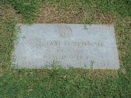 BENSON (VETERAN WWI), WILLIAM H - Pulaski County, Arkansas | WILLIAM H BENSON (VETERAN WWI) - Arkansas Gravestone Photos