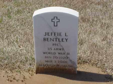 BENTLEY (VETERAN WWII), JEFFIE L - Pulaski County, Arkansas | JEFFIE L BENTLEY (VETERAN WWII) - Arkansas Gravestone Photos