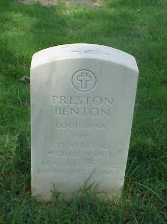BENTON (VETERAN WWI), PRESTON - Pulaski County, Arkansas | PRESTON BENTON (VETERAN WWI) - Arkansas Gravestone Photos