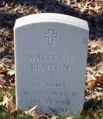 BENTON (VETERAN WWII), WALTER F - Pulaski County, Arkansas | WALTER F BENTON (VETERAN WWII) - Arkansas Gravestone Photos
