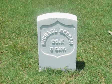 BERGAN (VETERAN UNION), MICHAEL - Pulaski County, Arkansas | MICHAEL BERGAN (VETERAN UNION) - Arkansas Gravestone Photos