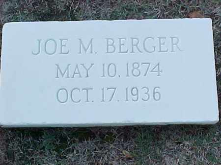 BERGER, JOE M - Pulaski County, Arkansas | JOE M BERGER - Arkansas Gravestone Photos