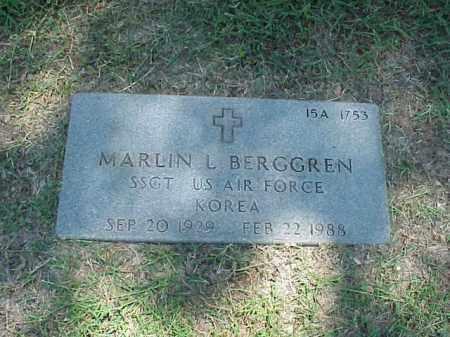 BERGGREN (VETERAN KOR), MARLIN L - Pulaski County, Arkansas   MARLIN L BERGGREN (VETERAN KOR) - Arkansas Gravestone Photos