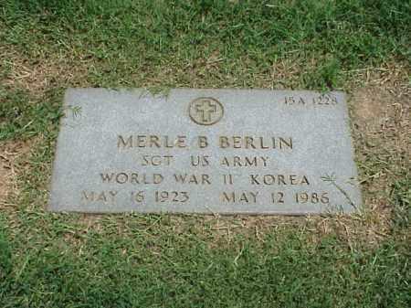 BERLIN (VETERAN 2 WARS), MERLE B - Pulaski County, Arkansas | MERLE B BERLIN (VETERAN 2 WARS) - Arkansas Gravestone Photos