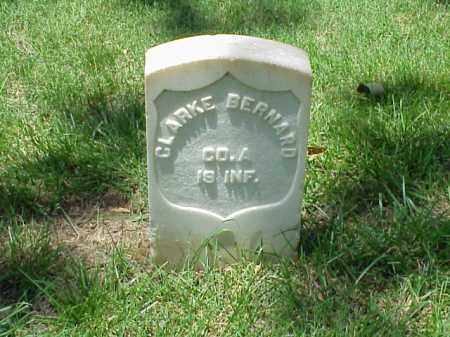 BERNARD (VETERAN UNION), CLARKE - Pulaski County, Arkansas | CLARKE BERNARD (VETERAN UNION) - Arkansas Gravestone Photos