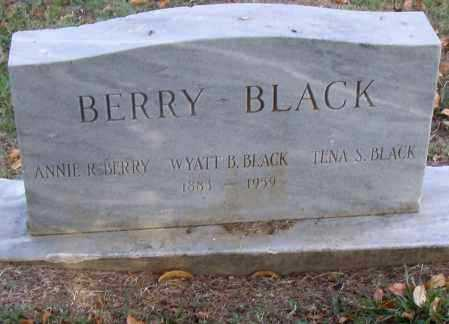 BERRY BLACK, ANNIE R. - Pulaski County, Arkansas | ANNIE R. BERRY BLACK - Arkansas Gravestone Photos