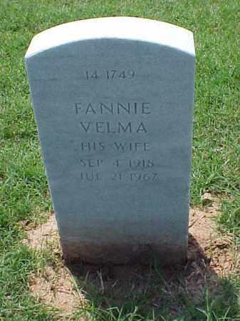 BERRY, FANNIE VELMA - Pulaski County, Arkansas   FANNIE VELMA BERRY - Arkansas Gravestone Photos