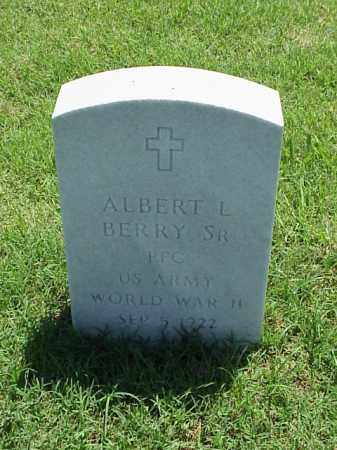 BERRY, SR (VETERAN WWII), ALBERT L - Pulaski County, Arkansas | ALBERT L BERRY, SR (VETERAN WWII) - Arkansas Gravestone Photos