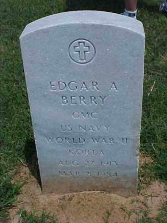 BERRY (VETERAN 2 WARS), EDGAR A - Pulaski County, Arkansas   EDGAR A BERRY (VETERAN 2 WARS) - Arkansas Gravestone Photos