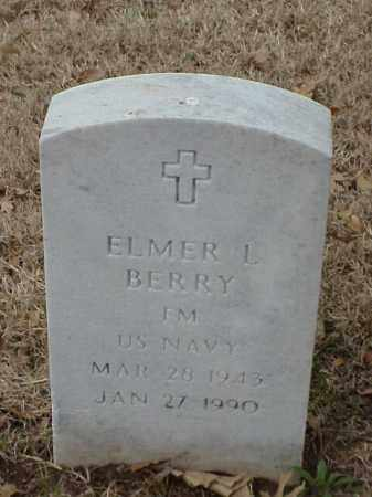 BERRY (VETERAN), ELMER L - Pulaski County, Arkansas | ELMER L BERRY (VETERAN) - Arkansas Gravestone Photos
